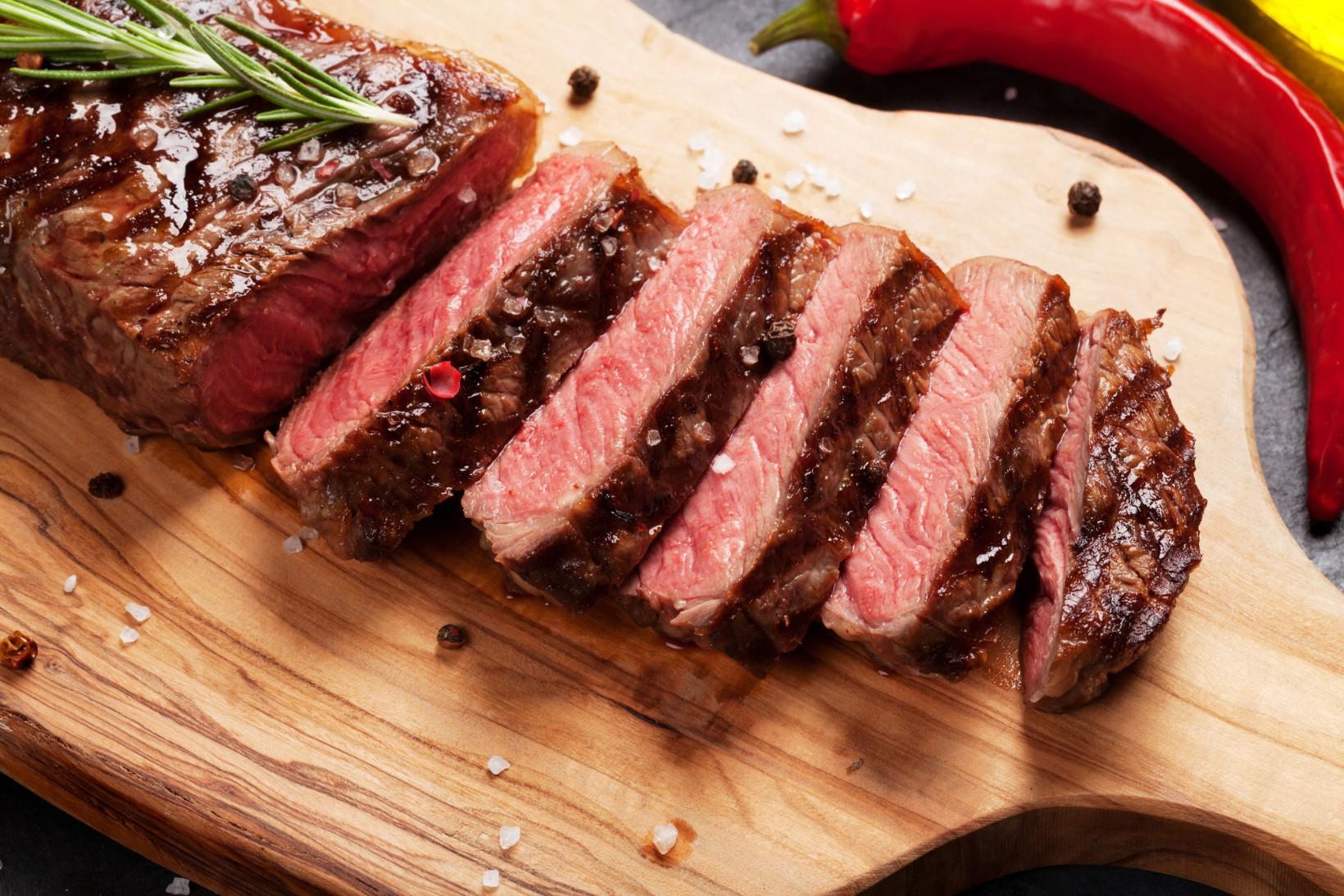 Steak, Rind, Kalbfleisch, Bio, Natur