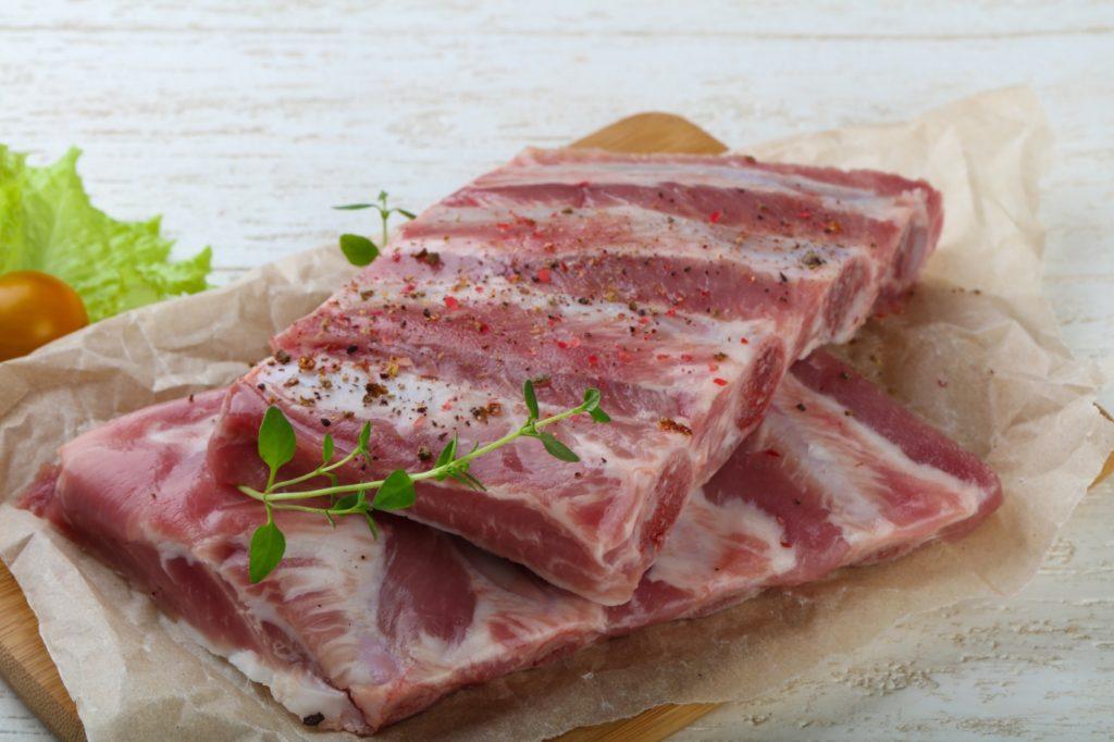 Schweineflewisch, Rippen,Rippelen, Milln, Biofleisch, Bio
